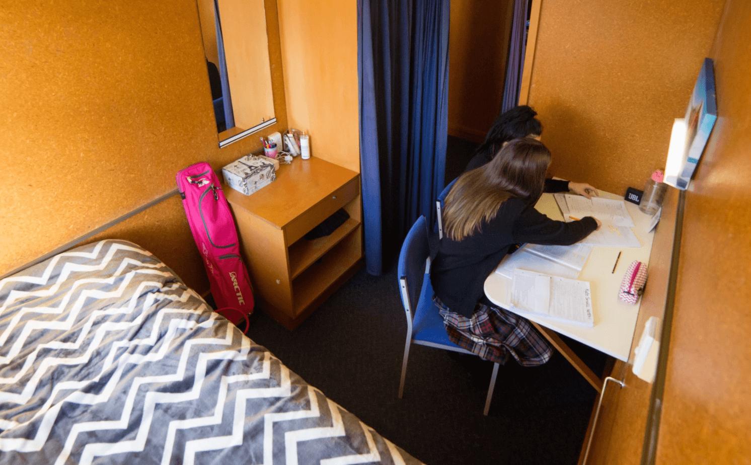 Waitaki Girls High boarding room